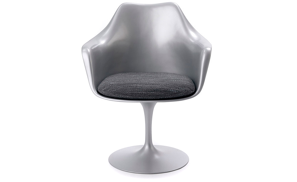 Saarinen Platinum Tulip Arm Chair  sc 1 st  Hive Modern : knoll saarinen tulip chair - Cheerinfomania.Com