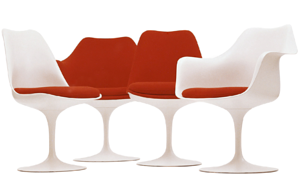 Saarinen White Tulip Arm Chair