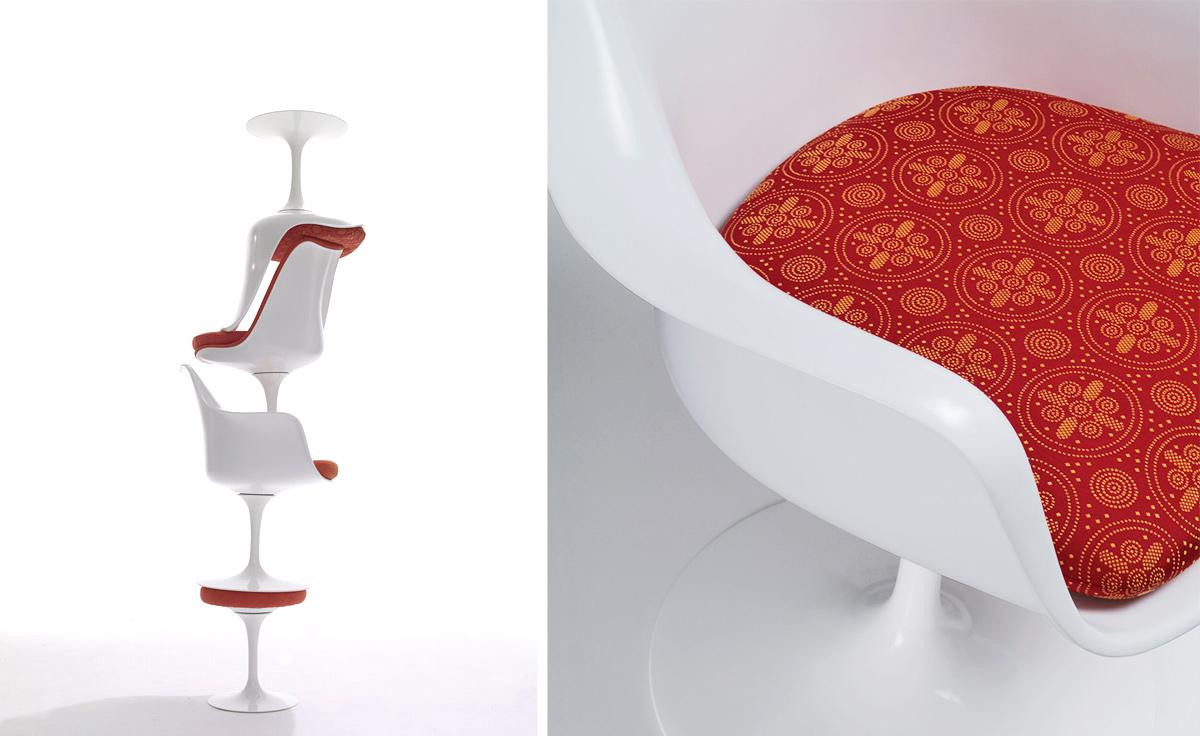 Saarinen White Tulip Arm Chair