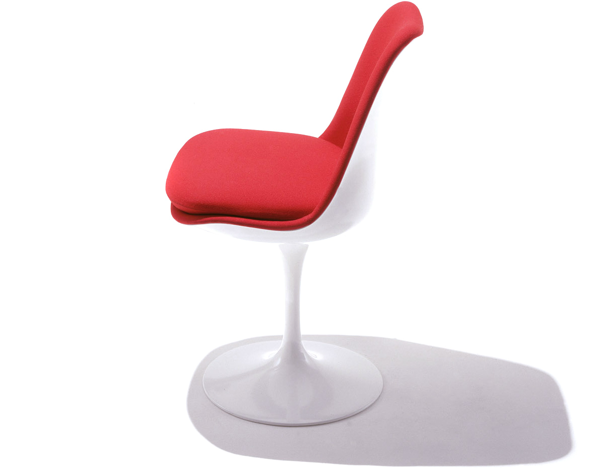 saarinen tulip side chair fully upholstered - hivemodern