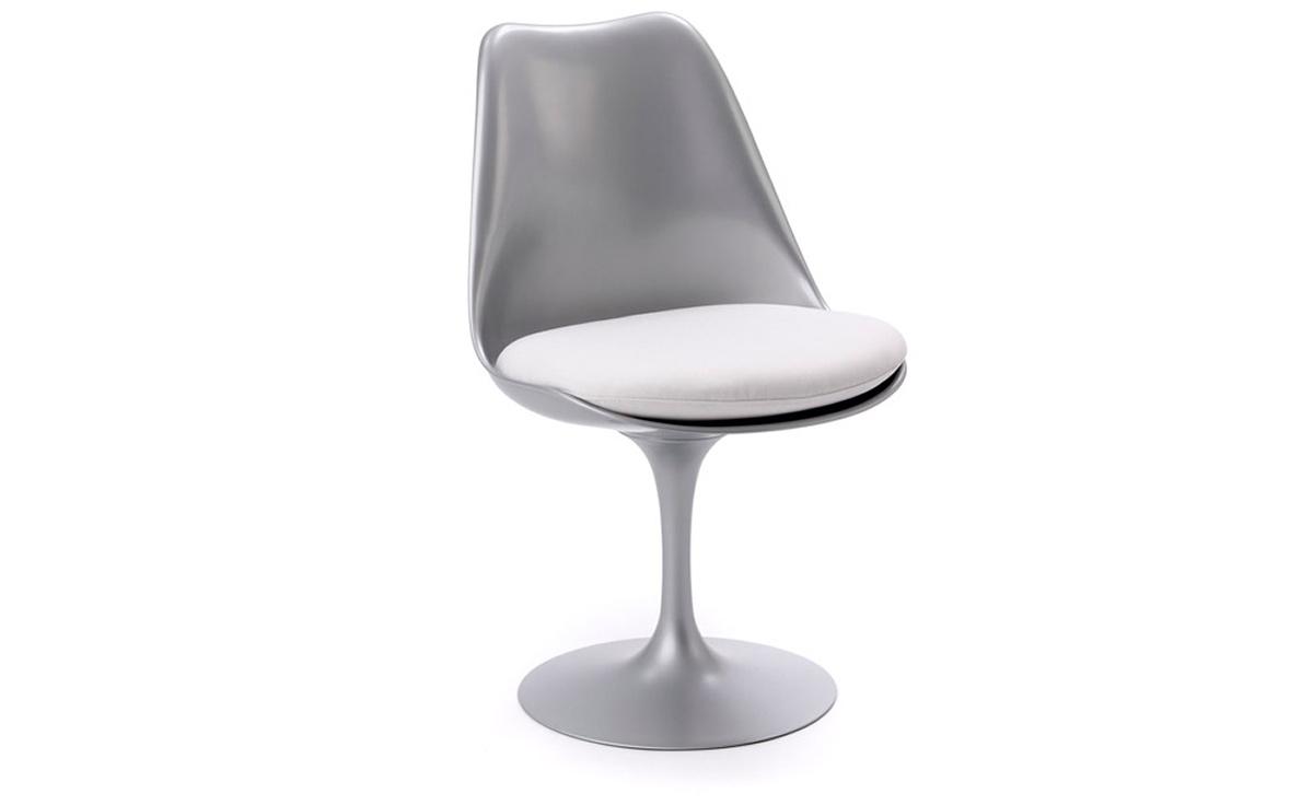 saarinen platinum tulip side chair