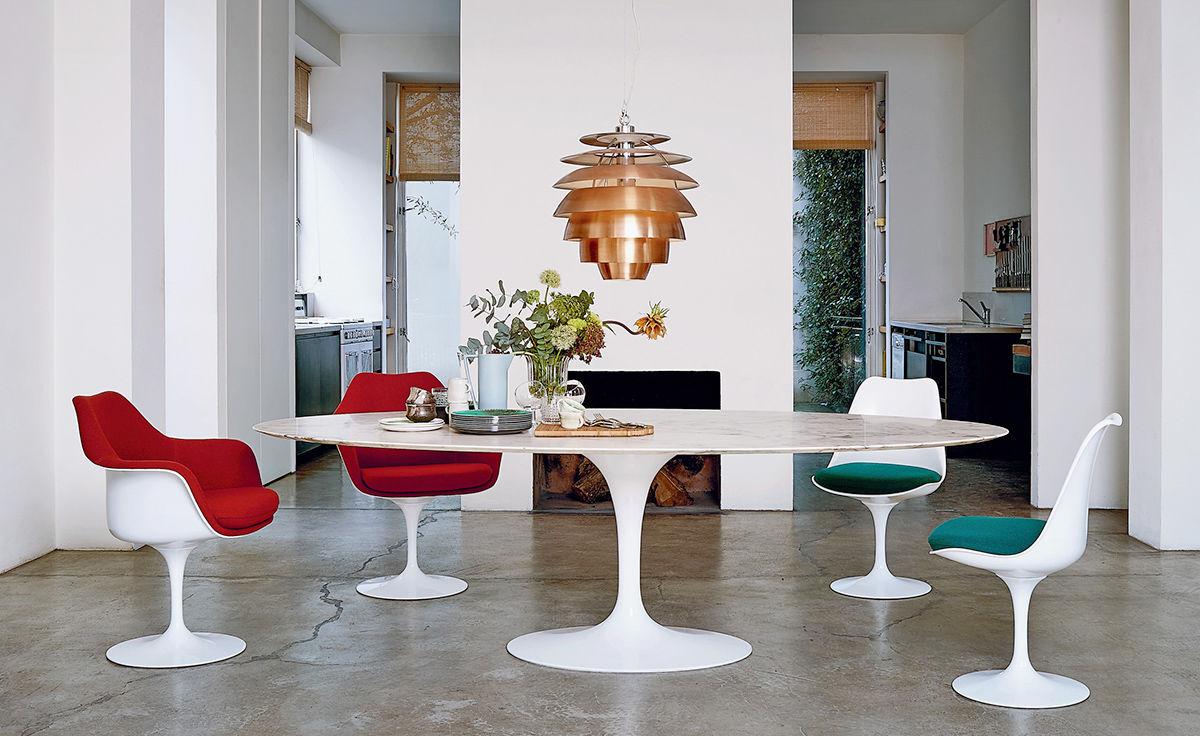 Saarinen White Tulip Side Chair Hivemodern Com