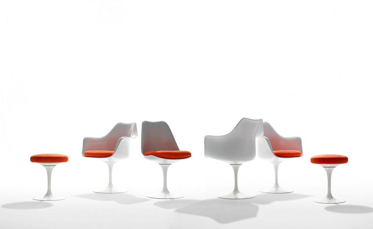 Saarinen White Tulip Side Chair Hivemodern Com