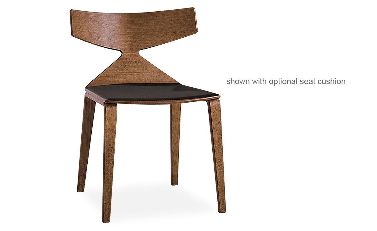 Saya Chair With Wood Legs Hivemodern Com