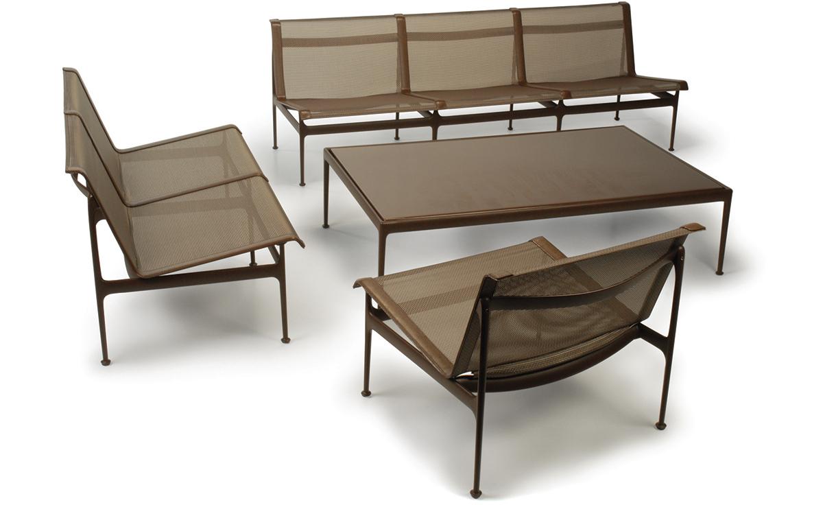 schultz swell two seat sofa hivemodern com rh hivemodern com richard schultz outdoor furniture repair john v schultz outdoor furniture