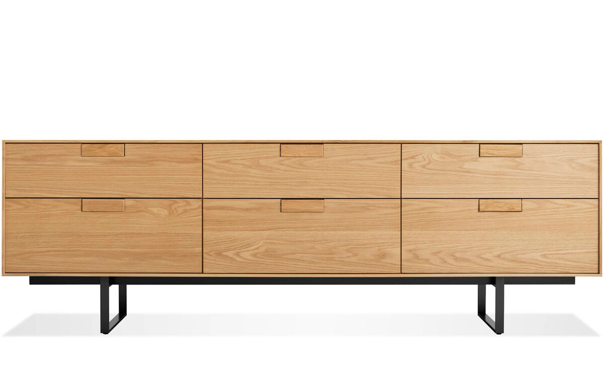 Series 11 six drawer console for Blu dot media console
