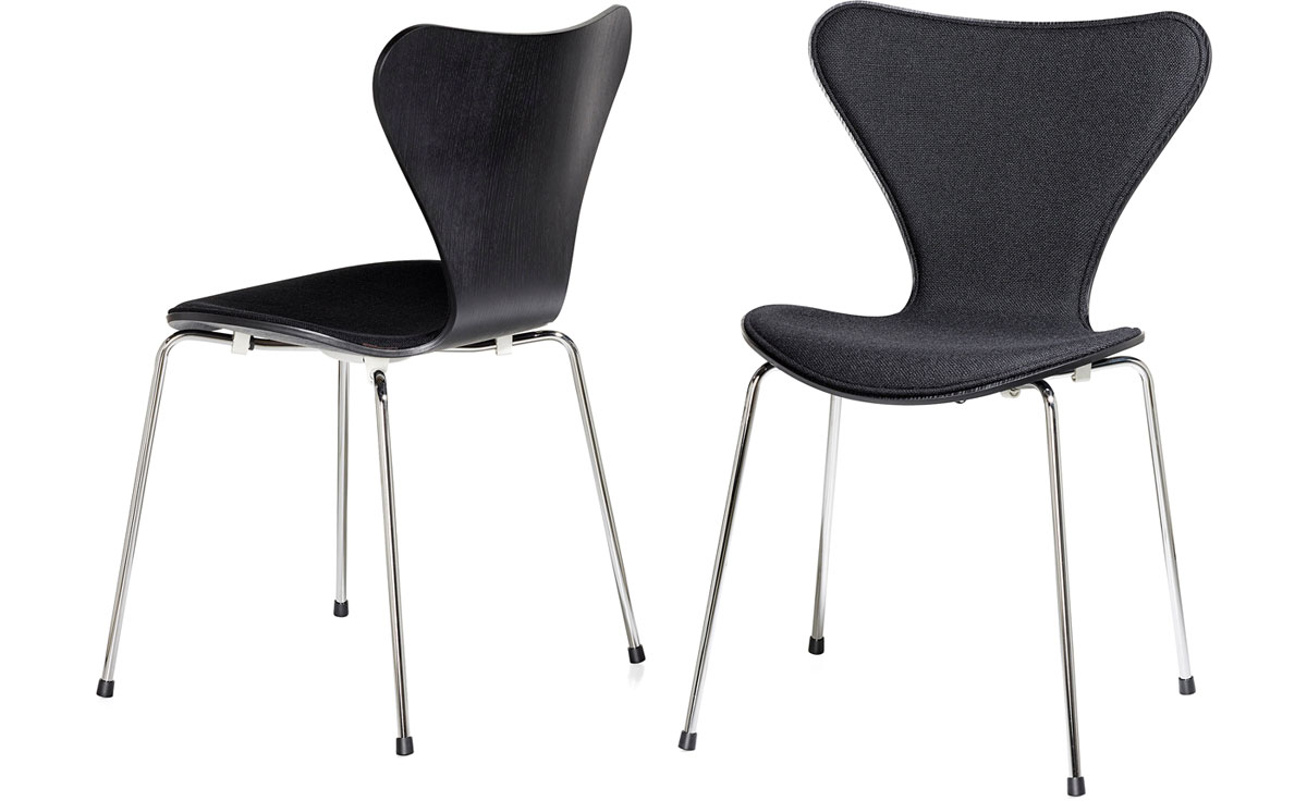 Series 7 side chair front upholstered for Arne jacobsen nachbau