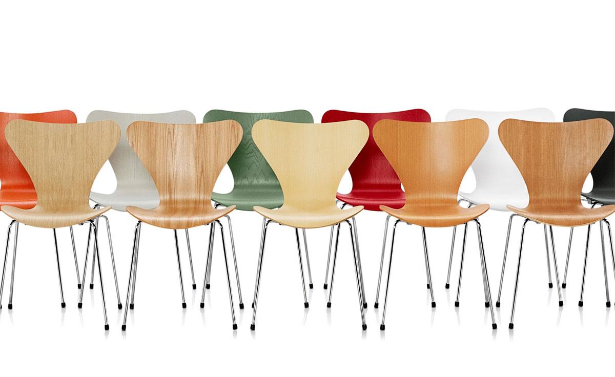 Series 7 Side Chair Wood Veneer