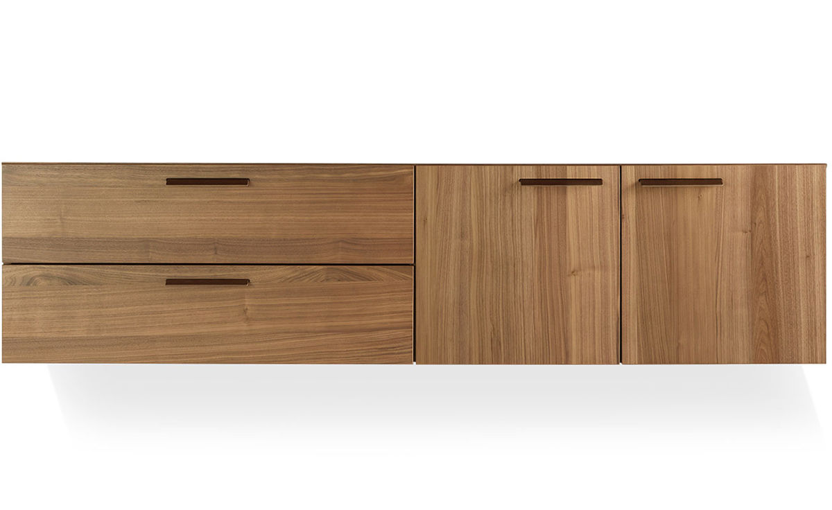Shale 2 Door 2 Drawer Wall Mounted Cabinet Hivemodern Com
