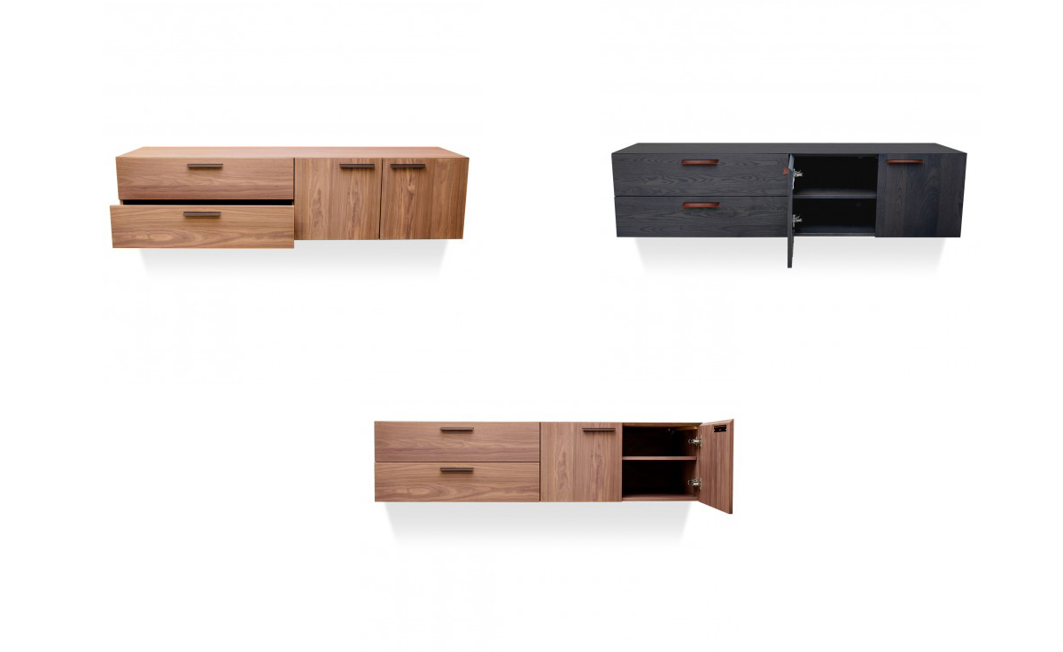 Shale 2 Door Drawer Wall Mounted Cabinet Hivemoderncom