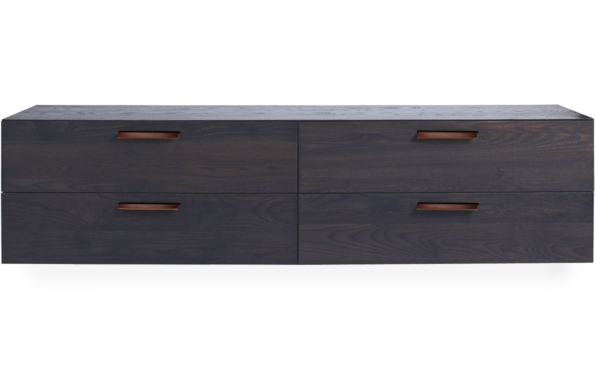 wall mounted dresser shale 4 drawer wall mounted dresser hivemodern 13764