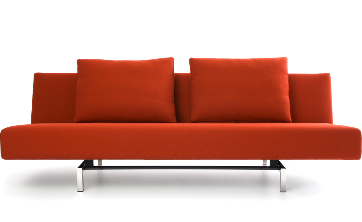 Sleeper sofa with 2 cushions for Modern love seats