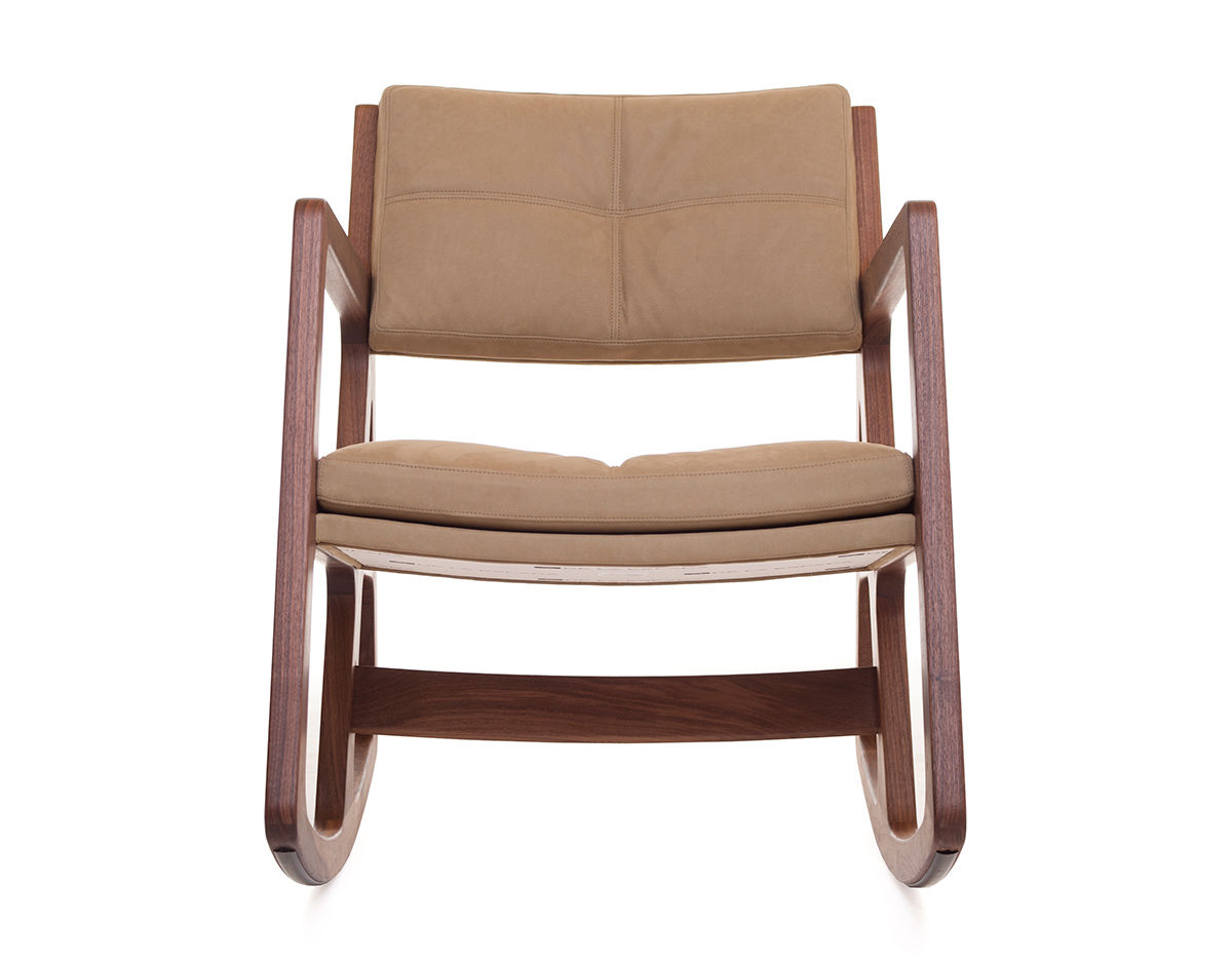Sleepy Blind Tufted Rocking Chair 273