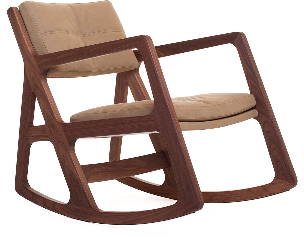 Sleepy Blind Tufted Rocking Chair 273