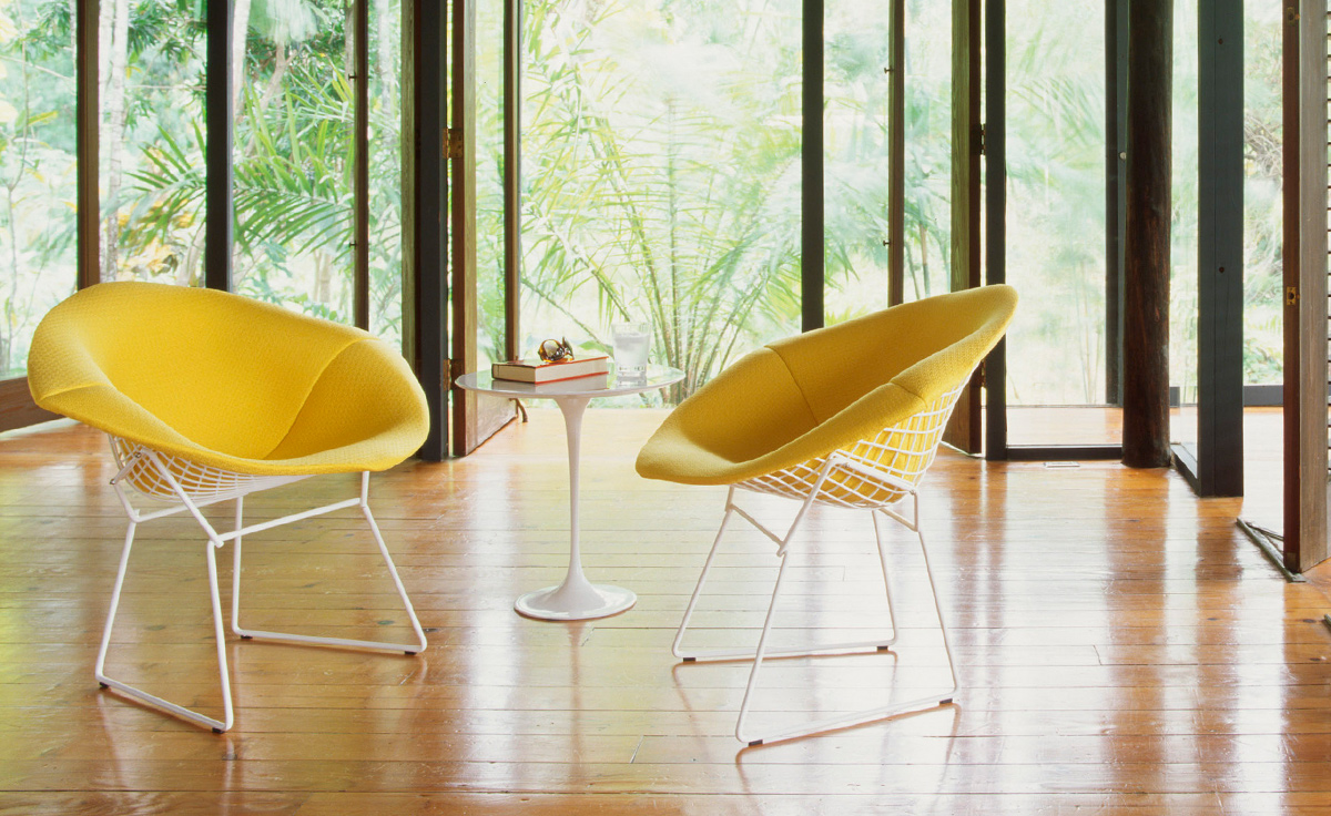 Bertoia Small Diamond Chair With Full Cover Hivemodern Com