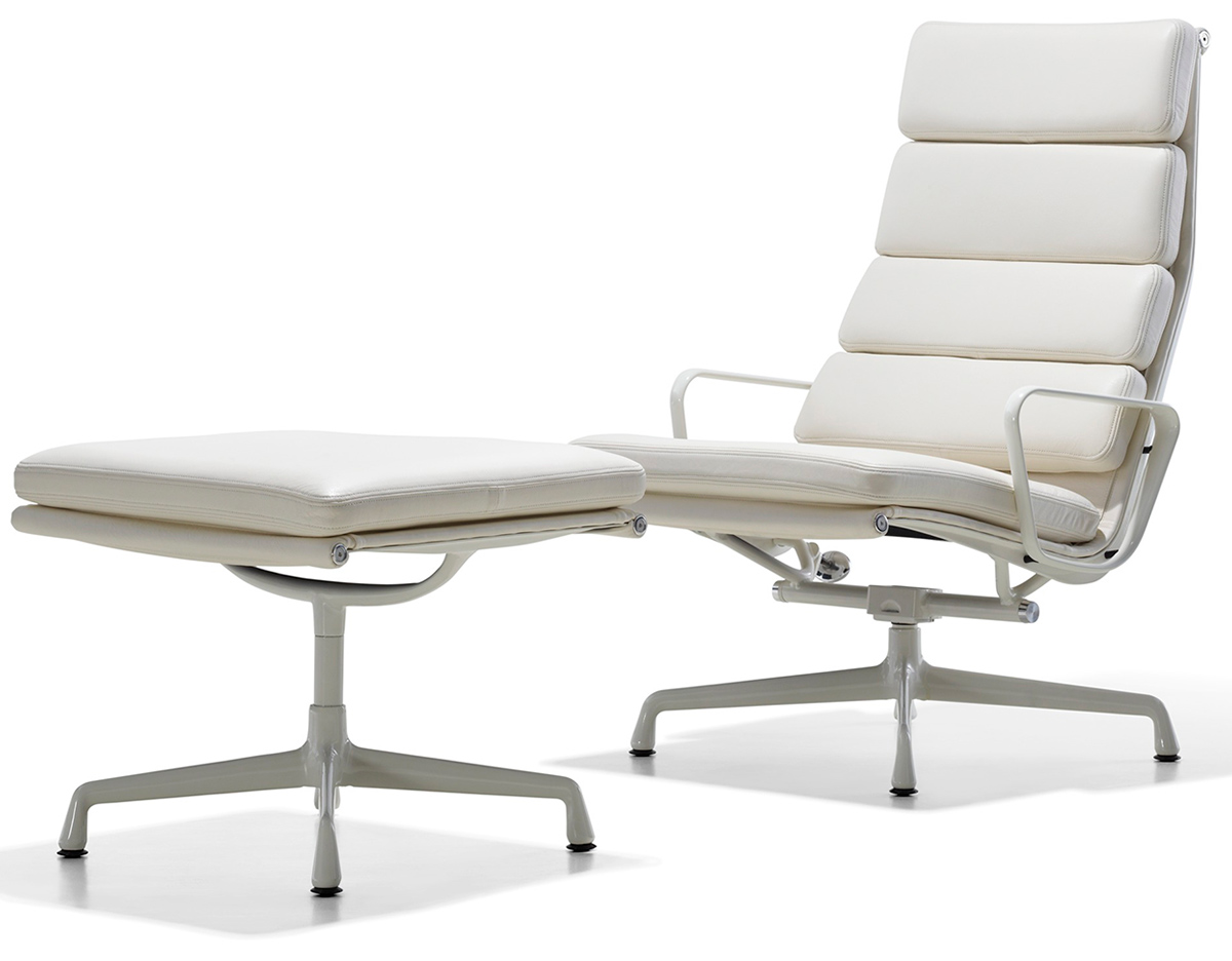 eames soft pad group lounge chair ottoman. Black Bedroom Furniture Sets. Home Design Ideas