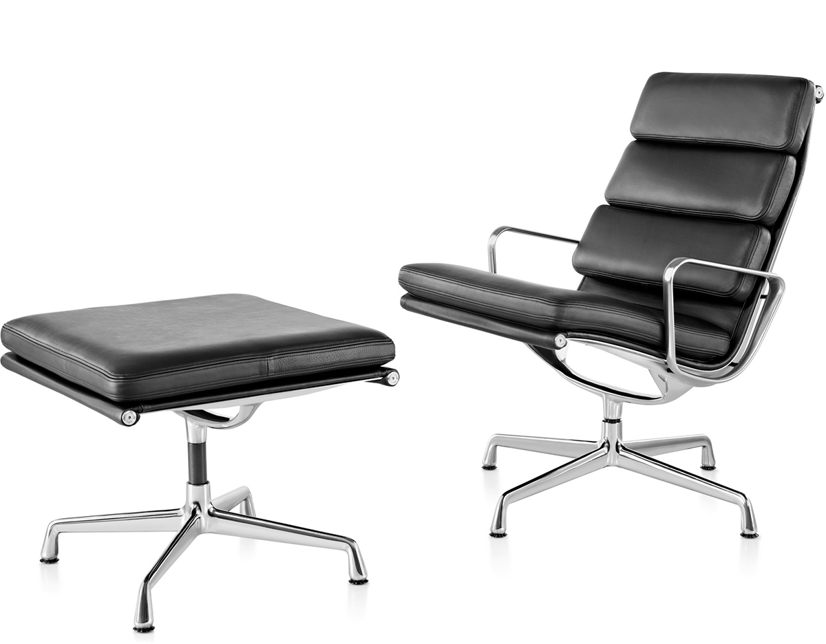 Eames Soft Pad Group Lounge Chair & Ottoman hivemodern
