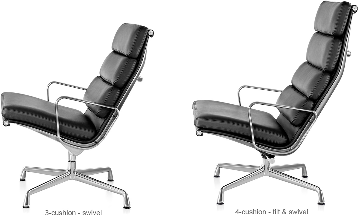 eames soft pad group lounge chair ottoman