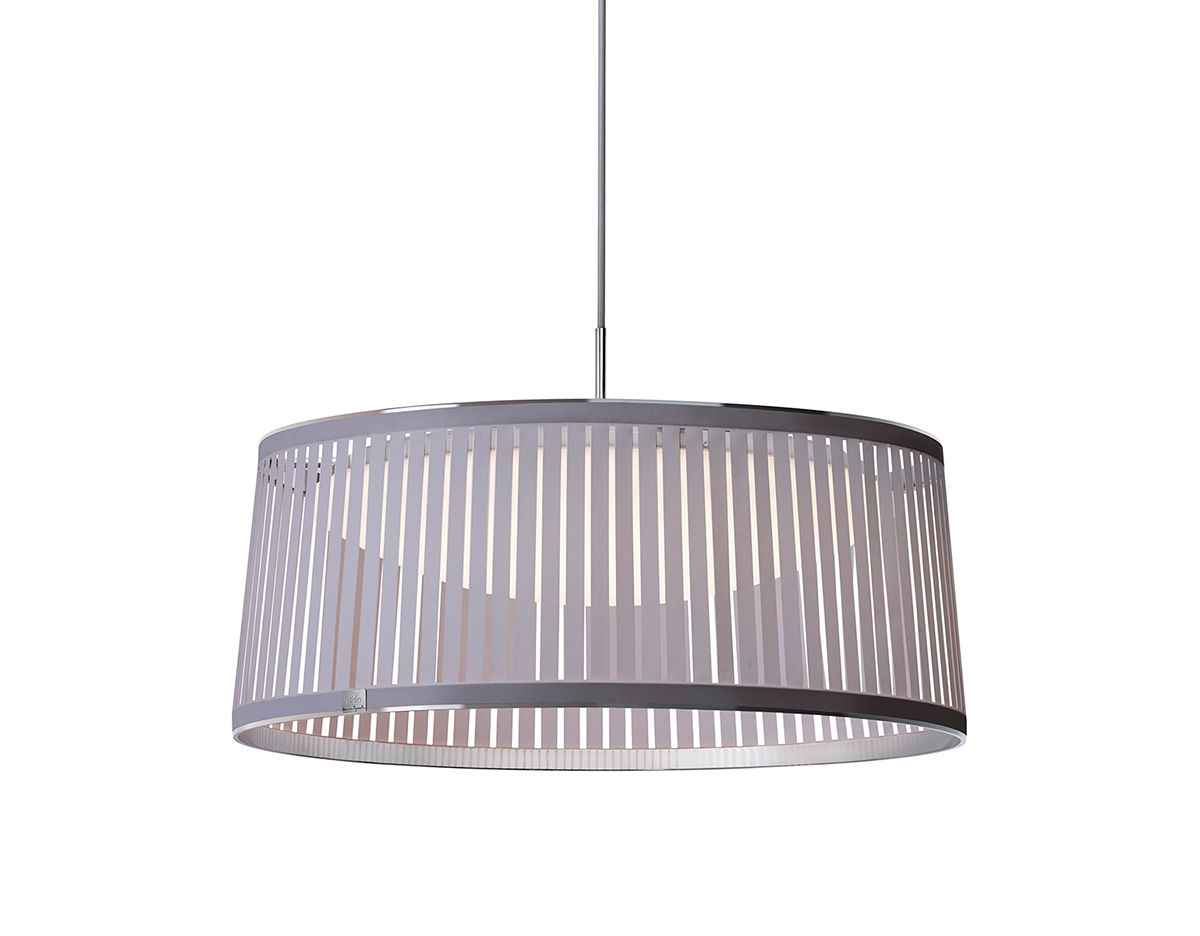 Solis drum led suspension lamp for Suspension 4 lampes