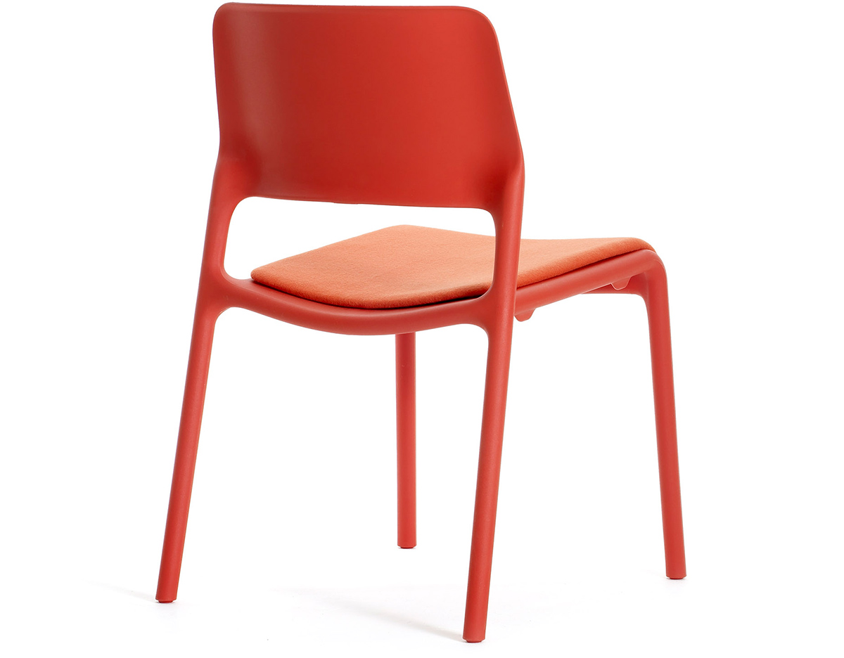 Spark Stacking Side Chair With Seat Pad Hivemodern Com