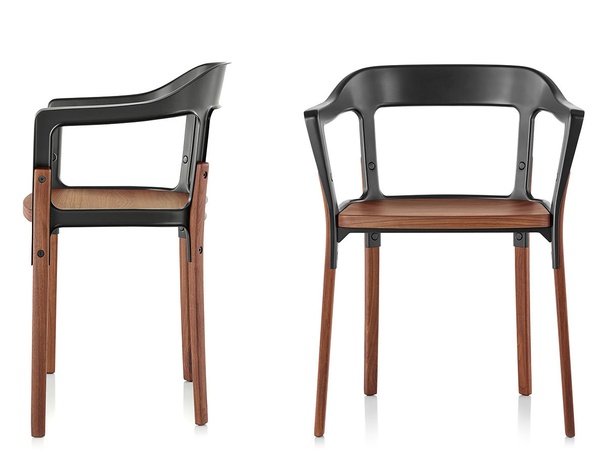 Magis steelwood armchair for Magis stuhl