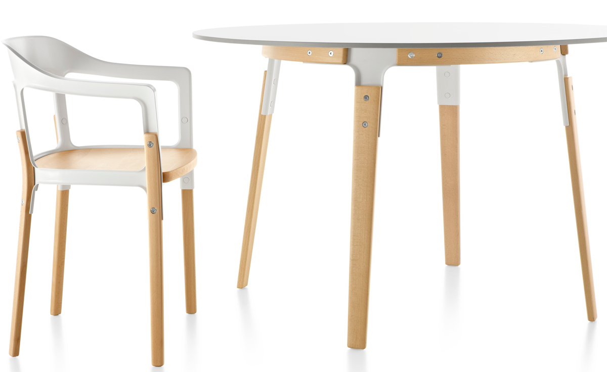 Steelwood Round Table Hivemoderncom