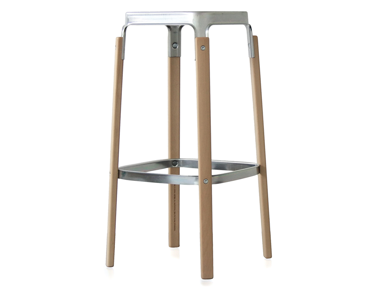 Steelwood stool for Magis steelwood