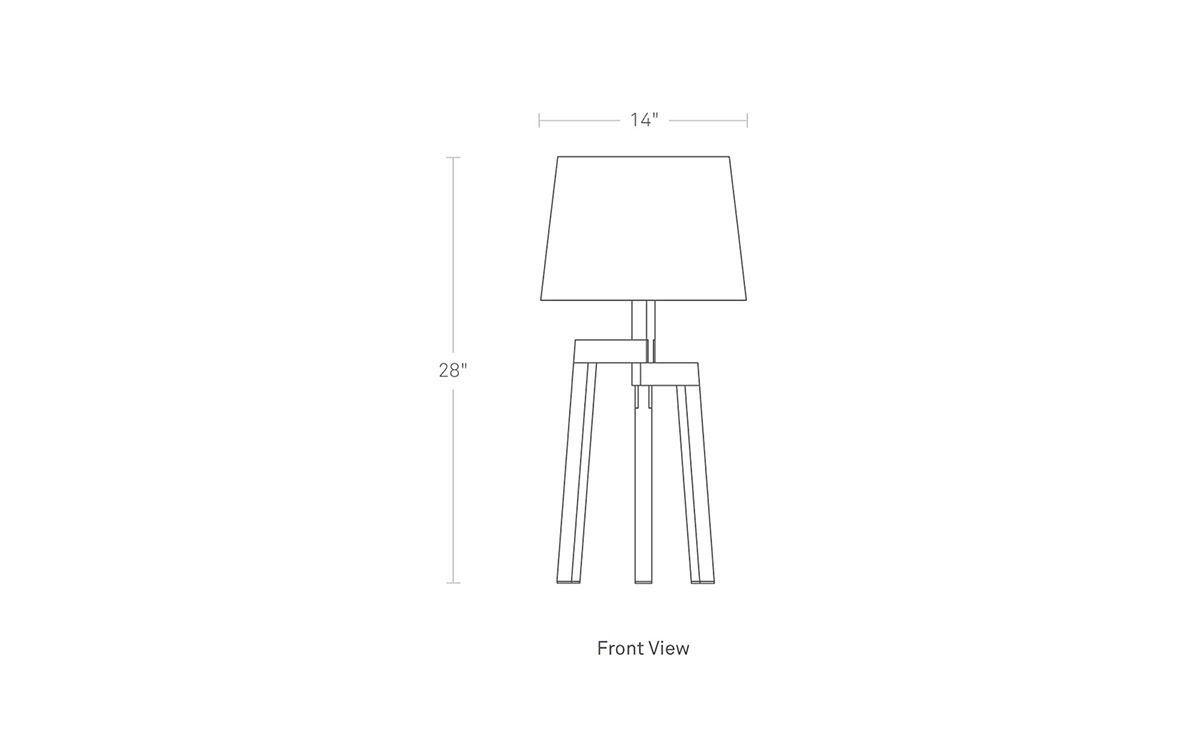 Stilt Table Lamp Hivemodern Com