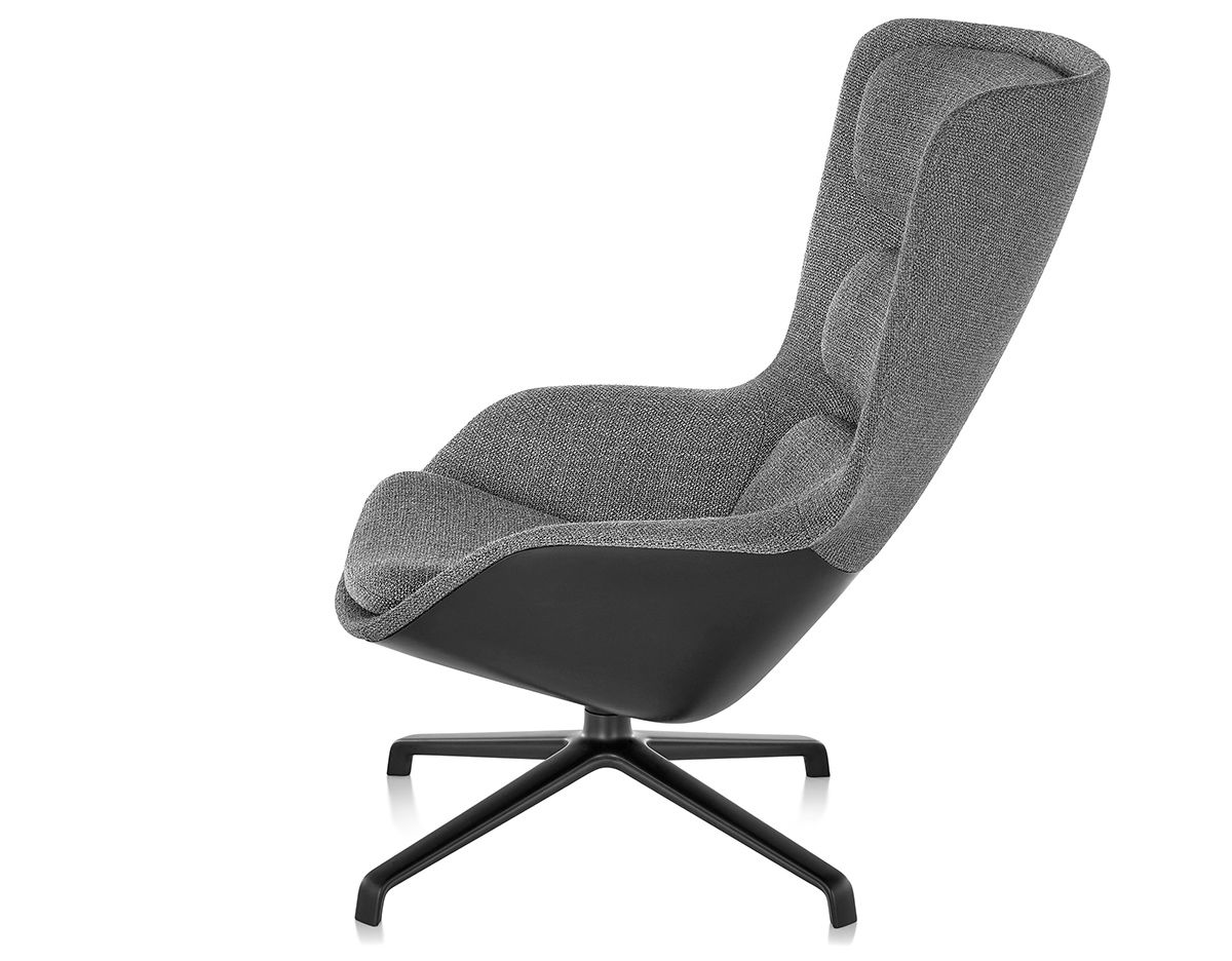 Striad™ High Back Lounge Chair With 4 Star Base hivemodern