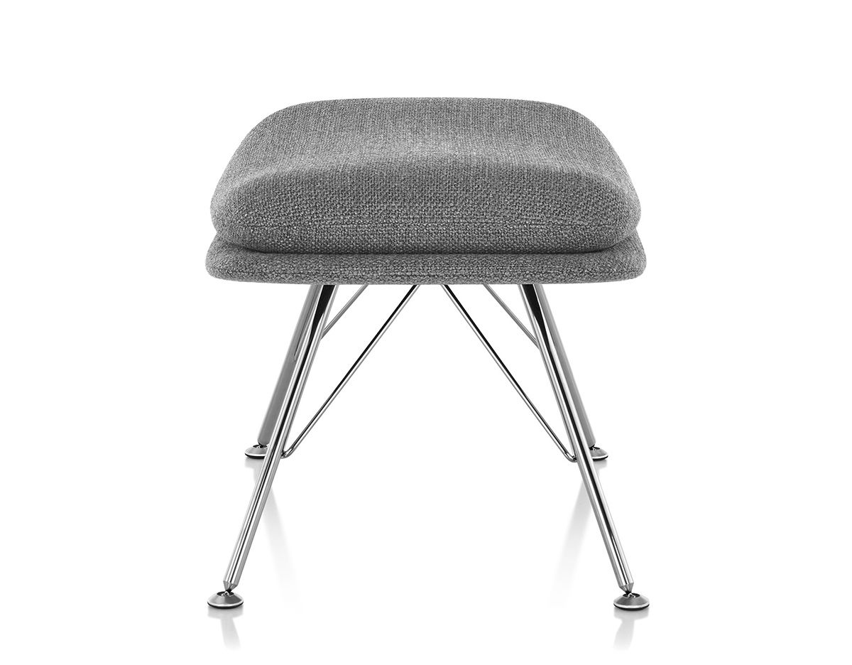 Striad Ottoman With Wire Base Hivemodern Com