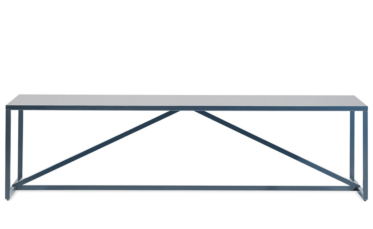 Strut rectangular coffee table hivemodern overview manufacturer media reviews geotapseo Choice Image