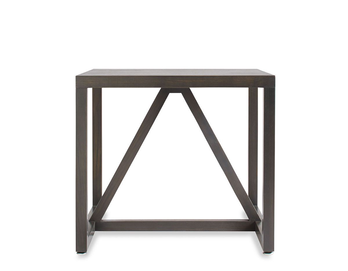 Strut Wood Side Table Hivemodern Com