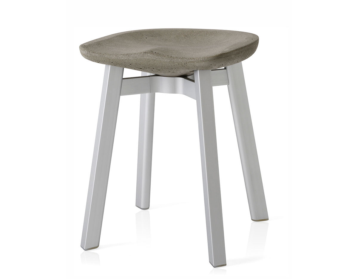 Su Small Stool With Concrete Seat Hivemodern Com