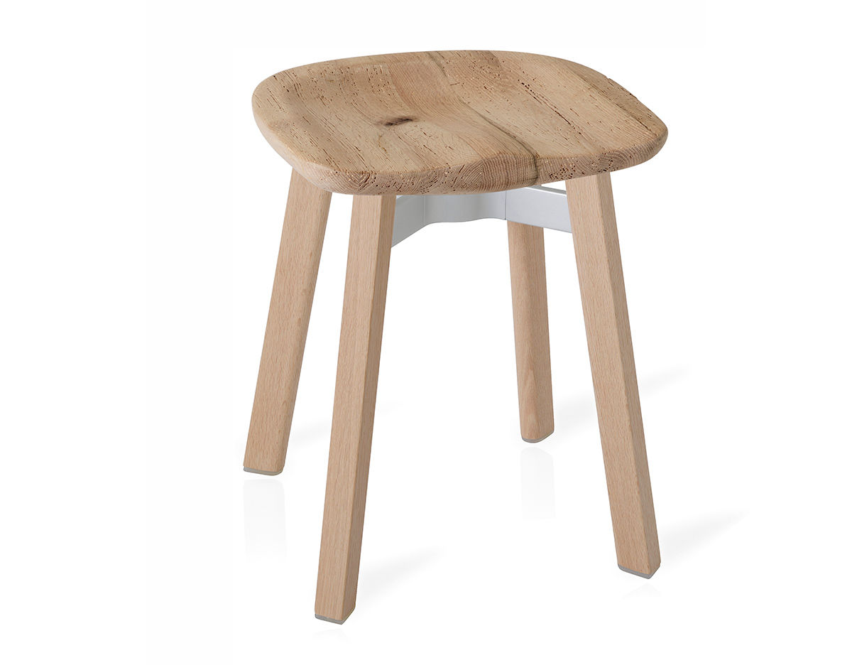 Wood Stools Product ~ Su small stool with wood seat hivemodern
