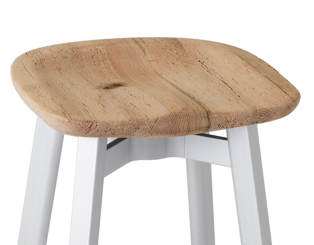 Su Small Stool With Wood Seat Hivemodern Com