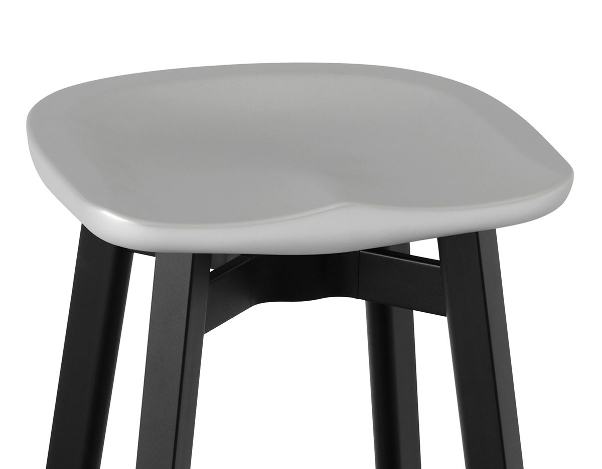 Su Stool With Plastic Seat Hivemodern Com