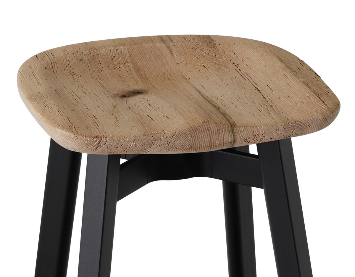 Su Stool With Wood Seat Hivemodern Com