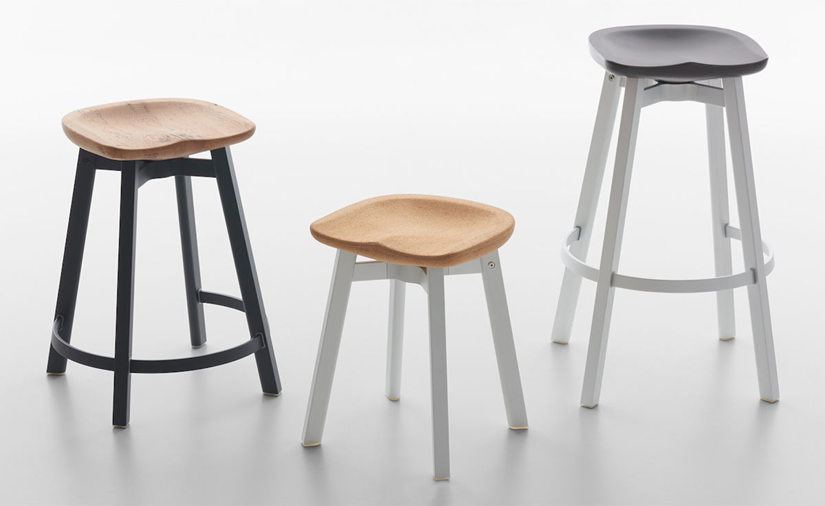 Su Stool With Wood Seat