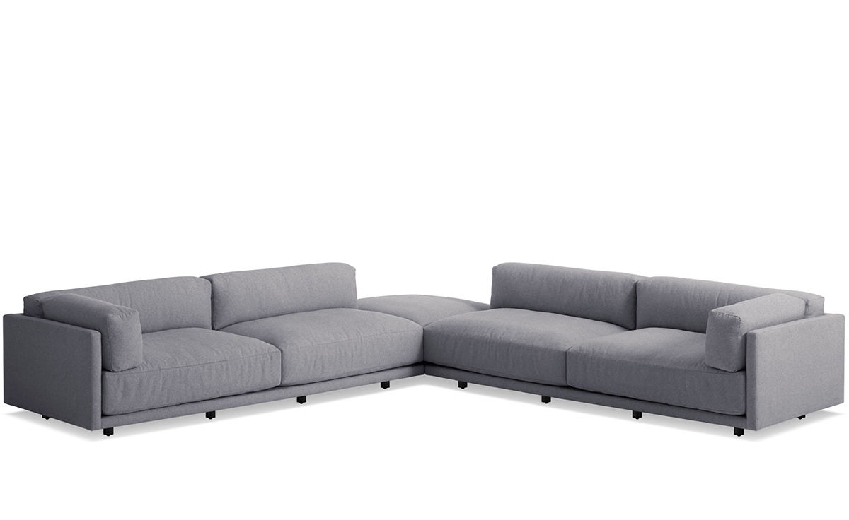 Sunday Backless L Sectional Sofa Hivemodern Com