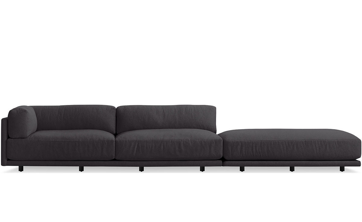 Sunday Long And Low Sectional Sofa