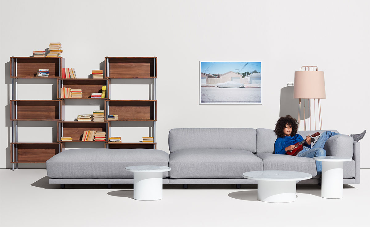 Sunday Long And Low Sectional Sofa Hivemodern Com