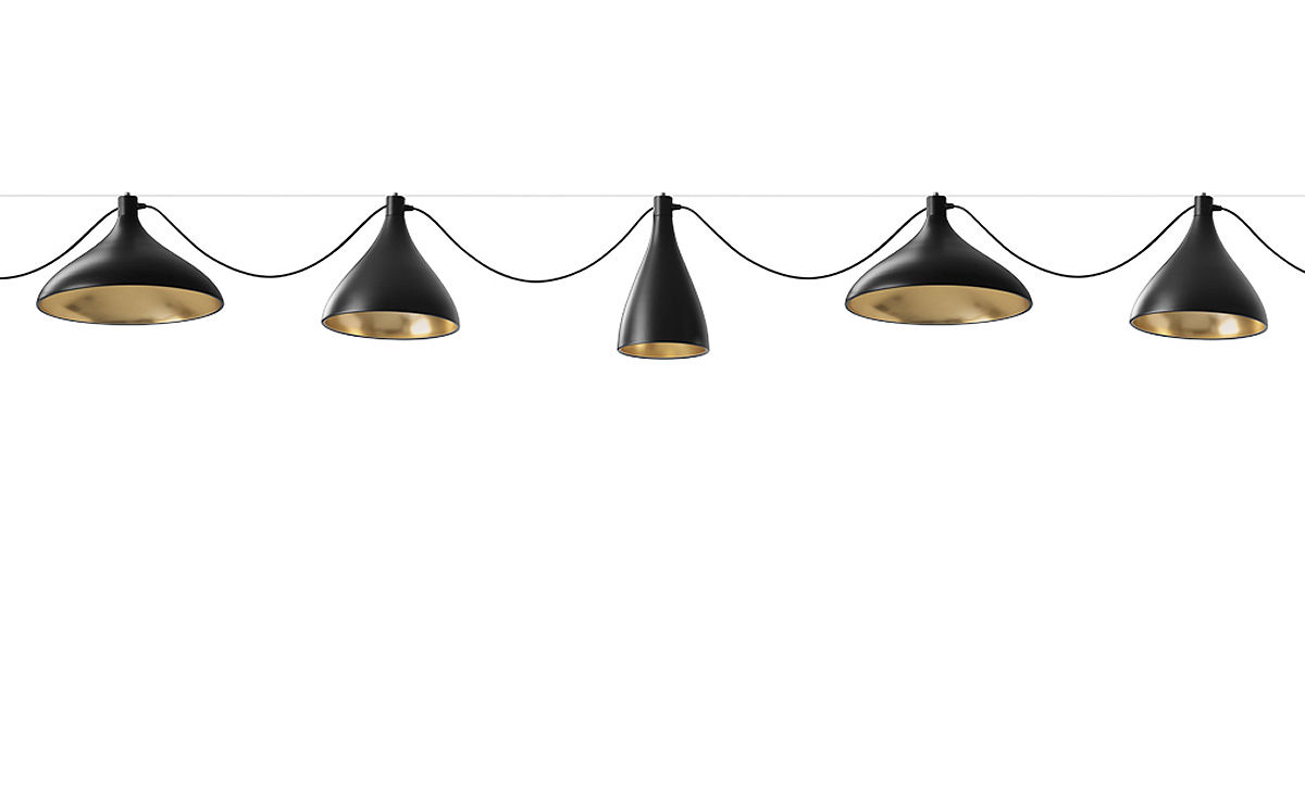 Swell 3 string mixed pendant lamps hivemodern swell 3 string mixed pendant lamps aloadofball Image collections