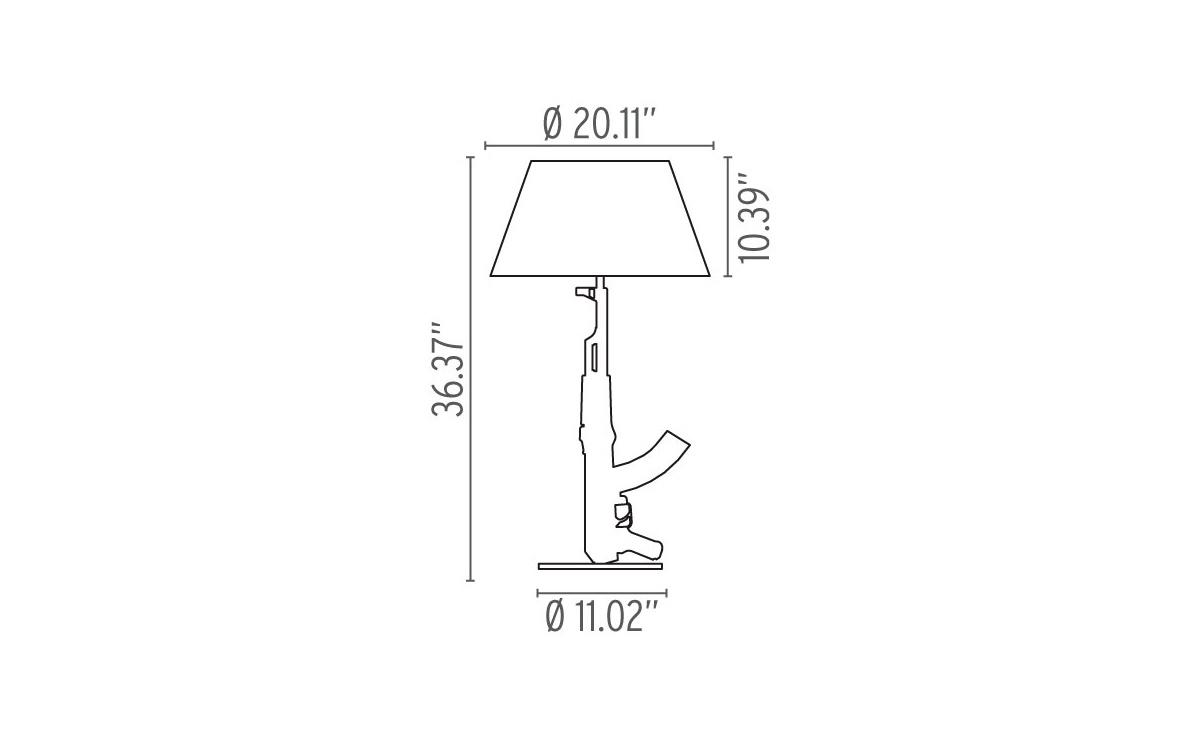 Table gun lamp hivemodern overview buycottarizona