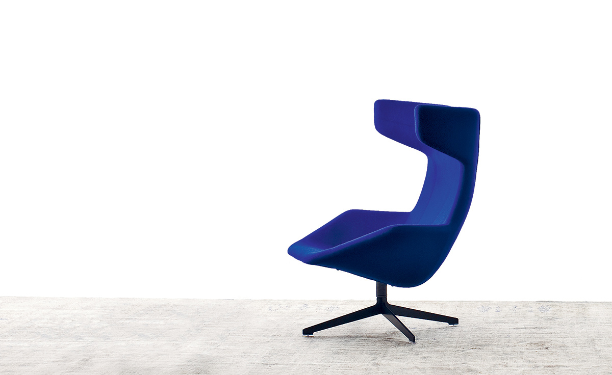 Take A Line For A Walk Swivel Armchair Hivemodern Com