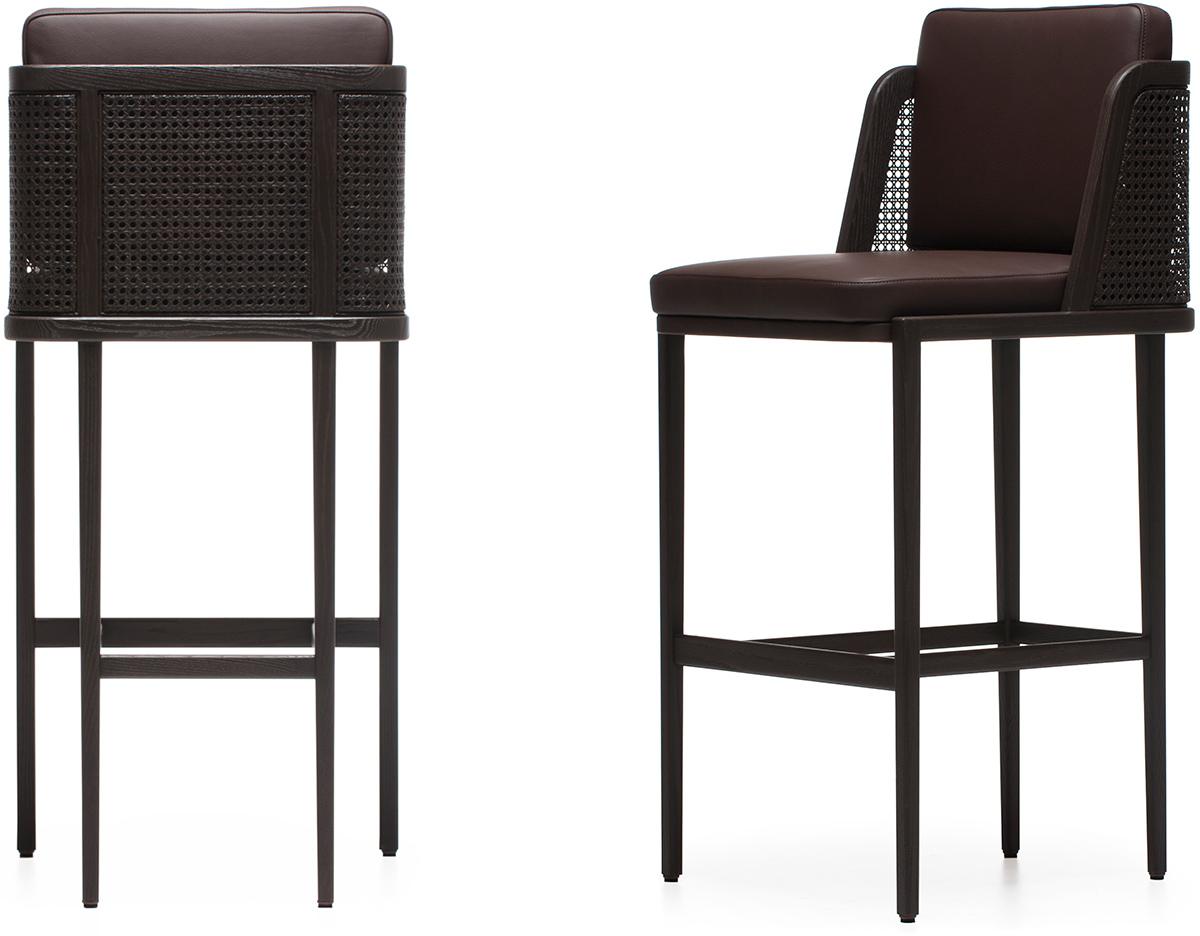 Throne Barstool With Rattan Hivemodern Com