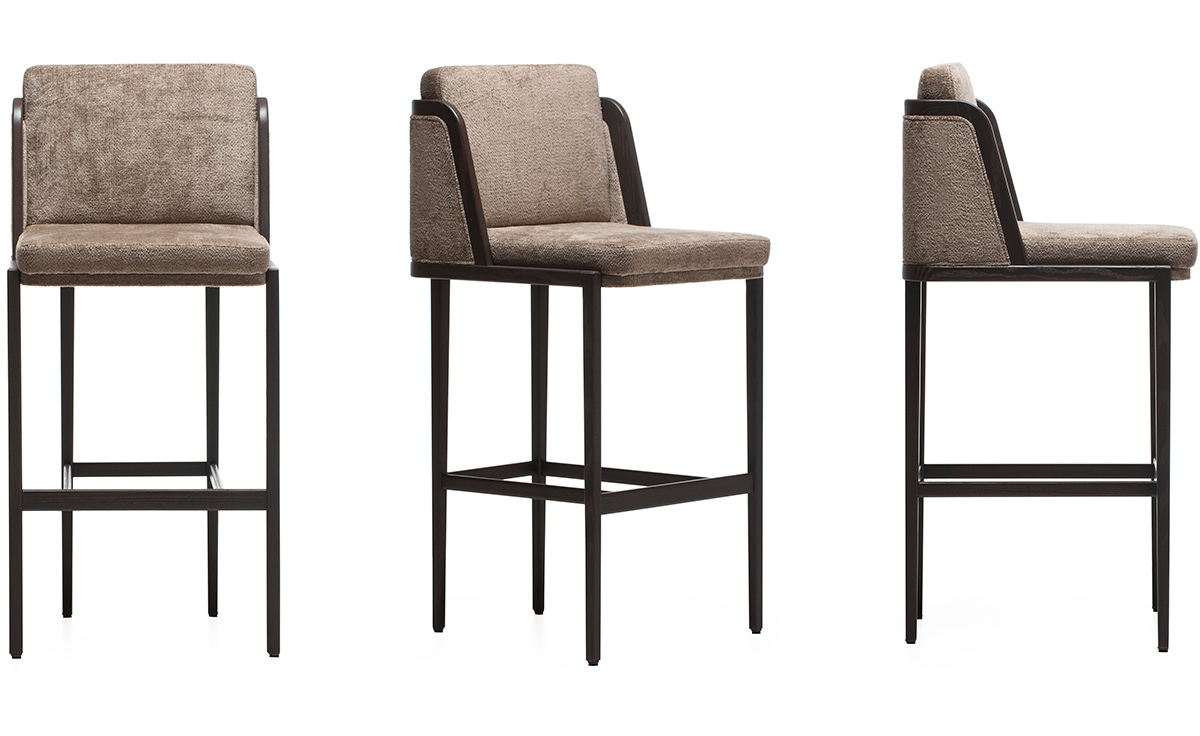 Throne Barstool With Upholstery Hivemodern Com