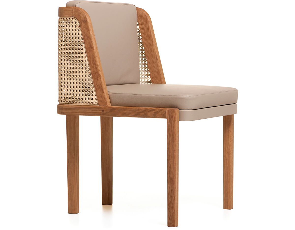 Throne dining chair 272 with rattan for Modern hive