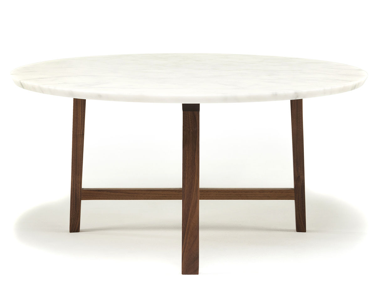 Trio Round Coffee Table With Marble Top 754mm