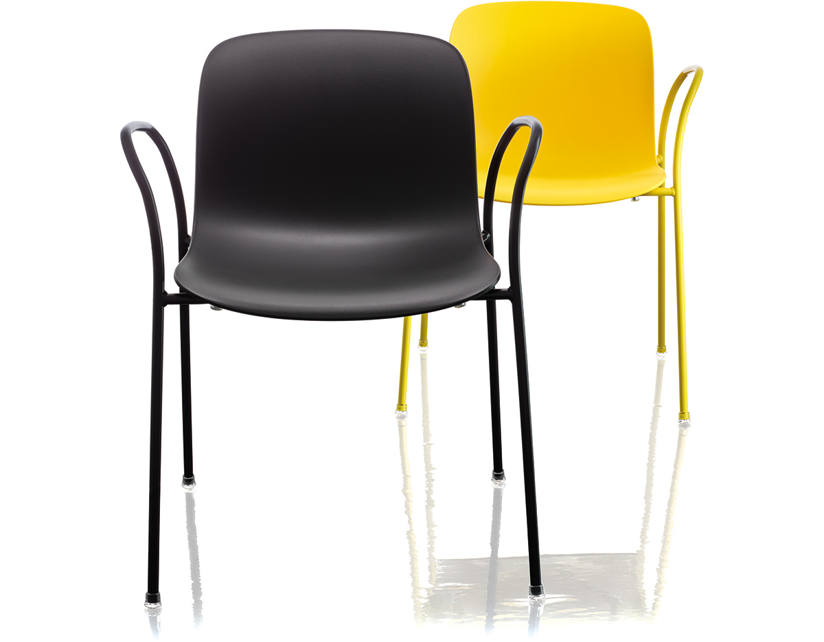 magis troy plastic stacking armchair two pack hivemodern com