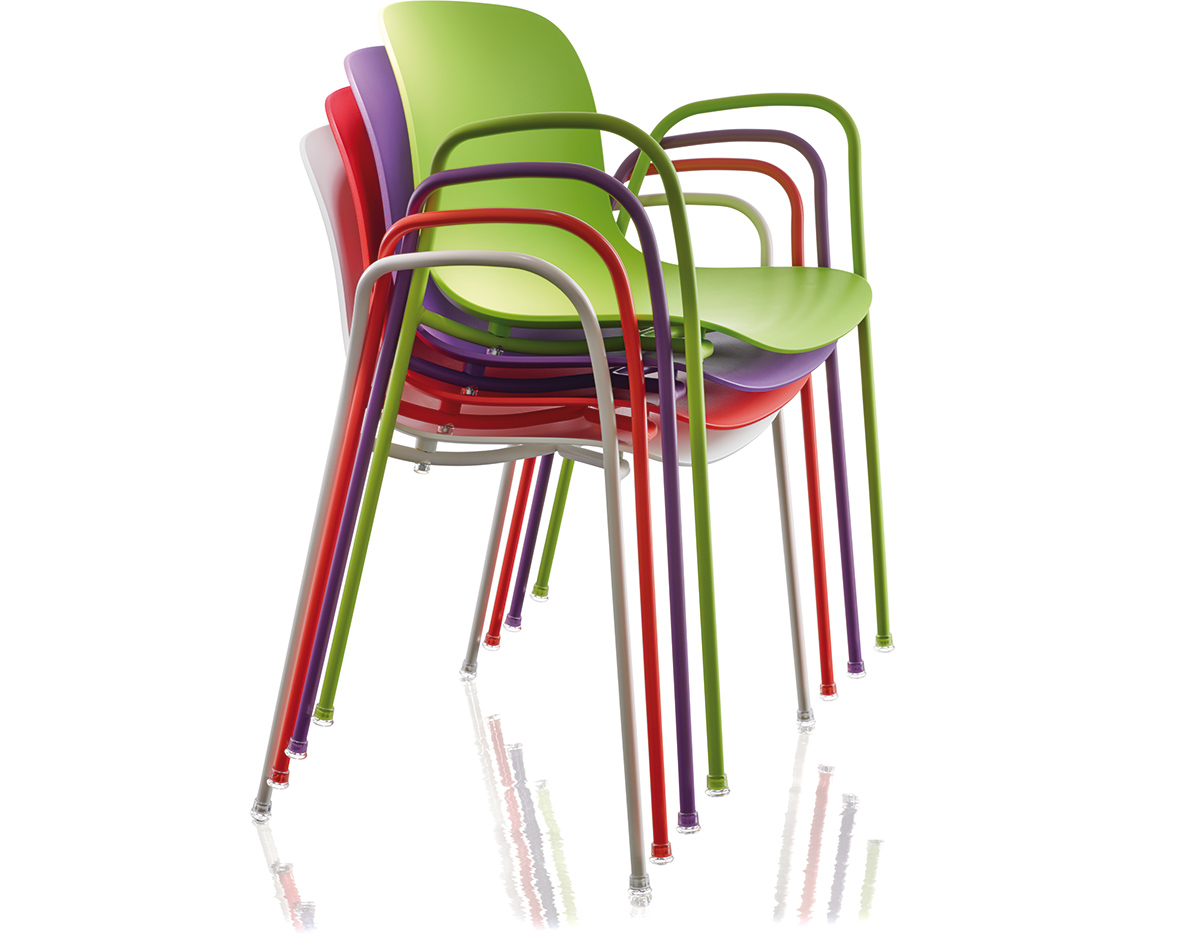 Magis Troy Plastic Stacking Armchair Two Pack